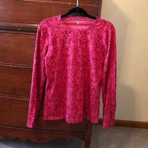 Great northwest long sleeve pink printed shirt M